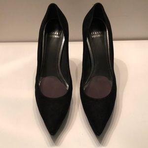 """Stuart weitzman black suede platform 5 """" heels"""